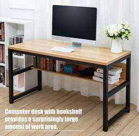 Superb computer study office work station table with shelves