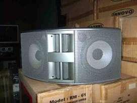 speaker dobel 8''  disain dan tampilan mewah