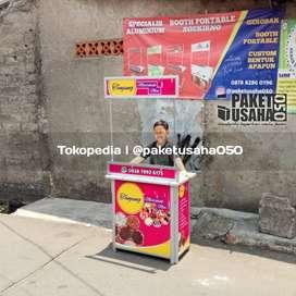 booth portable event desk gerobak, container gerobak lipat meja stand
