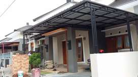 Pembuatan Kanopi Catport teras rumah minimalis
