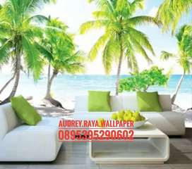 Wallpaper dinding 3d  pantai