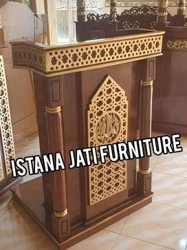 Mimbar masjid Free ongkir Mimbar Podium ceramah pengajian