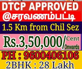 Saravanampatti Dtcp land sale at IT park