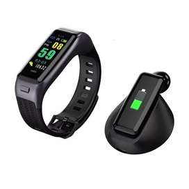 B03 Color OLED Disply Smart Watch Bracelet with BT Earphones