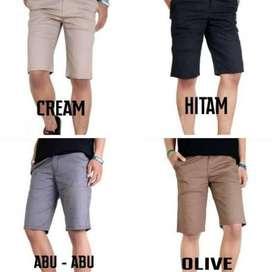 Celana Chinos Pendek Casual Berbagai Warna Polos size 27-38