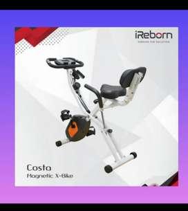 Sepeda statis murah x bike sandaran alat fitnes promo