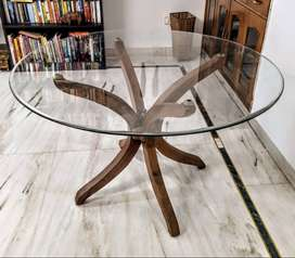 Glass-top dining table, 6 months old