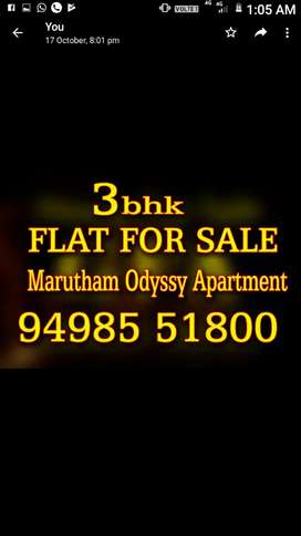 3bed room flat with attached bath room. Very closed to I.T park.