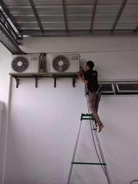 Jual AC Sanken 1pk lowat n Cuci AC/Service ac lokasi serang.