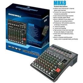 Hardwell Mixer audio 8 channel hardwell 8 ch mixer hardwell MRX 8 ori