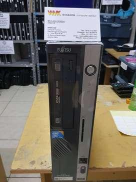 Obral CPU Slim murah FUJITSU Core2duo 4gb ddr3 160gb DVD UMKM UNBK