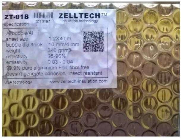 ALUMINIUM FOIL ZELTECH ZT-01B