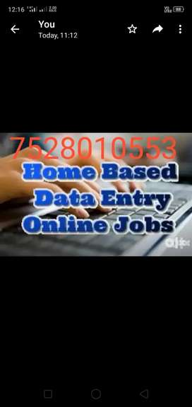 Join part time job data typing work