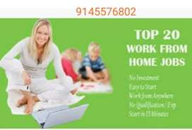 As a part time home based jobs at home