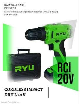 bor cas  impact / Cordless Impact Drill Ryu RCI20V / RCI 20V Mesin Bor