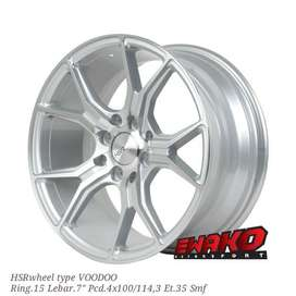 Voodoo SilverMF R15 - HSRwheel Makassar Velg Mobil Racing Import