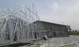 Rangka atap baja ringan, kanopi baja ringan, renovasi atap,baja ringan