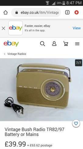 Antique vintage Radio Bush