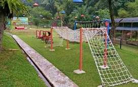 Jaring outbound jembatan tali playground