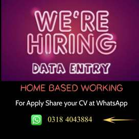 Home Based Data Entry (MS(Office)Word+Excel)For Fresh Females,Students