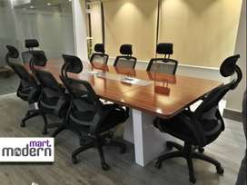 wooden high gloss lamination conference table for office furniture
