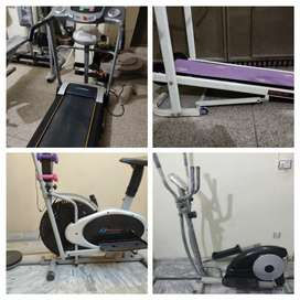 Manual treadmill running machine exercise cycle cycling mac elliptical