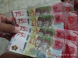 Uang 75RB special HUT RI ke  75thn