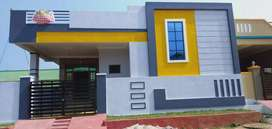 151sqyds 2bhk 1250sft  west face at Nagaram near to main road