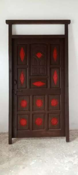 Door made from nakhtar wood