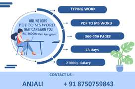 Reliable Income - Trustworthy Work From Home Typing Work