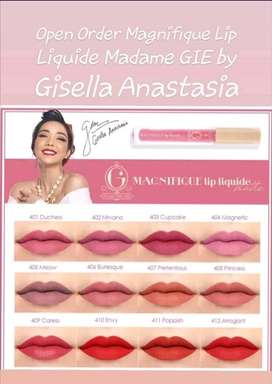 open order magnifique lip liquid madame Gie by gisella anastasia
