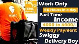 Swiggy - Wanted Delivery Boys across Chennai