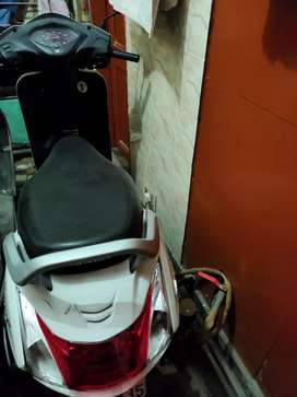 Activa scooty in white colour