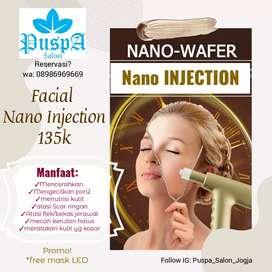 Nano injection facial bopeng jerawat