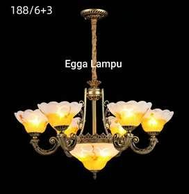 Lampu Gantung antik Klasik Hias Rumah Joglo Cafe