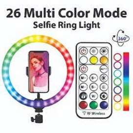 RING LIGHT WITH REMOTE SPEED-X 26CM 26COLOR RGB