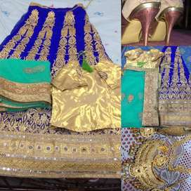 Party wear dress jewellery and sandal