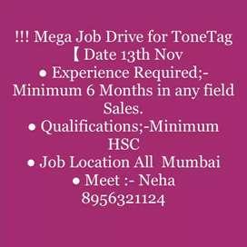 job opening  Mumbai( Tonetag)app installation field Work