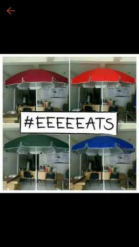 Payung tenda double bahan 240cm payung pantai 2 lapis payung bazar