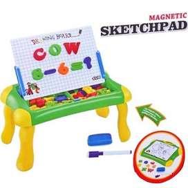 Mainan Anak Papan Tulis Magnet Magnetic Sketchpad Board 2 in 1 Edukasi