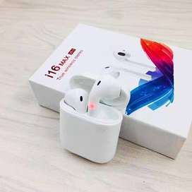 Tws i16 max wireless Airpods for iPhone and Android
