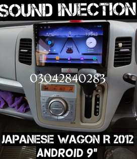 "Japanese Wagon R 2012 Android 9"" LED TV Screen LCD Tap Daboo CD Player"