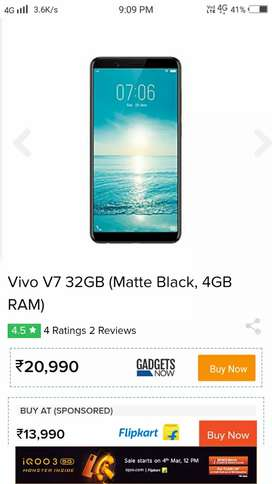 Vivo V7 Black color