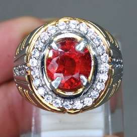 Cincin Batu Garnet Ceylon Srilangka Asli
