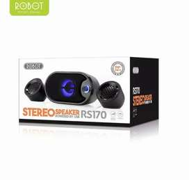 Speaker Robot Music Stereo RS170 Led Blue Buat PC/Laptop & Smartphone