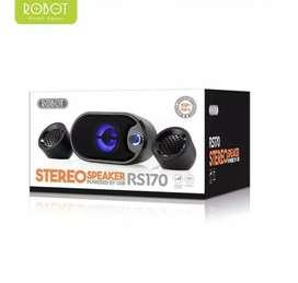 Speaker Robot Music Stereo RS170 Led Blue Buat PC/Laptop & Smartphone