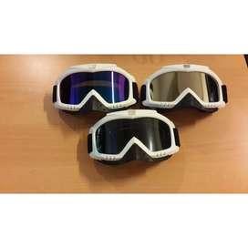Kacamata motocross/ski/sepeda warna putih