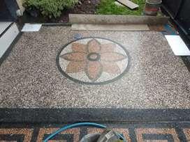 Taman halaman rumah dengan batu sikat jadi tambah menarik
