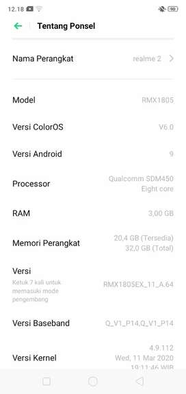 Realme 2 (3/32) HP ONLY..