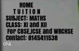 Home Tuition for Mathematics
